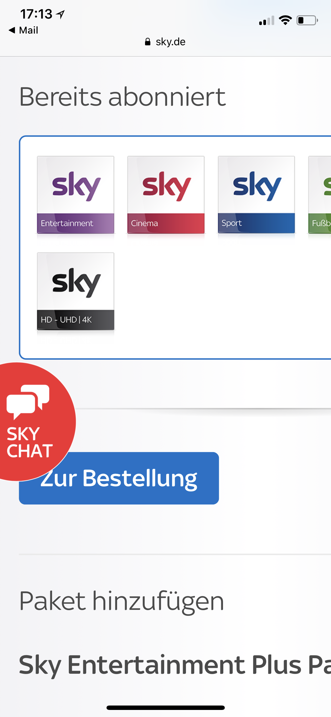 Sky Online Freischaltung