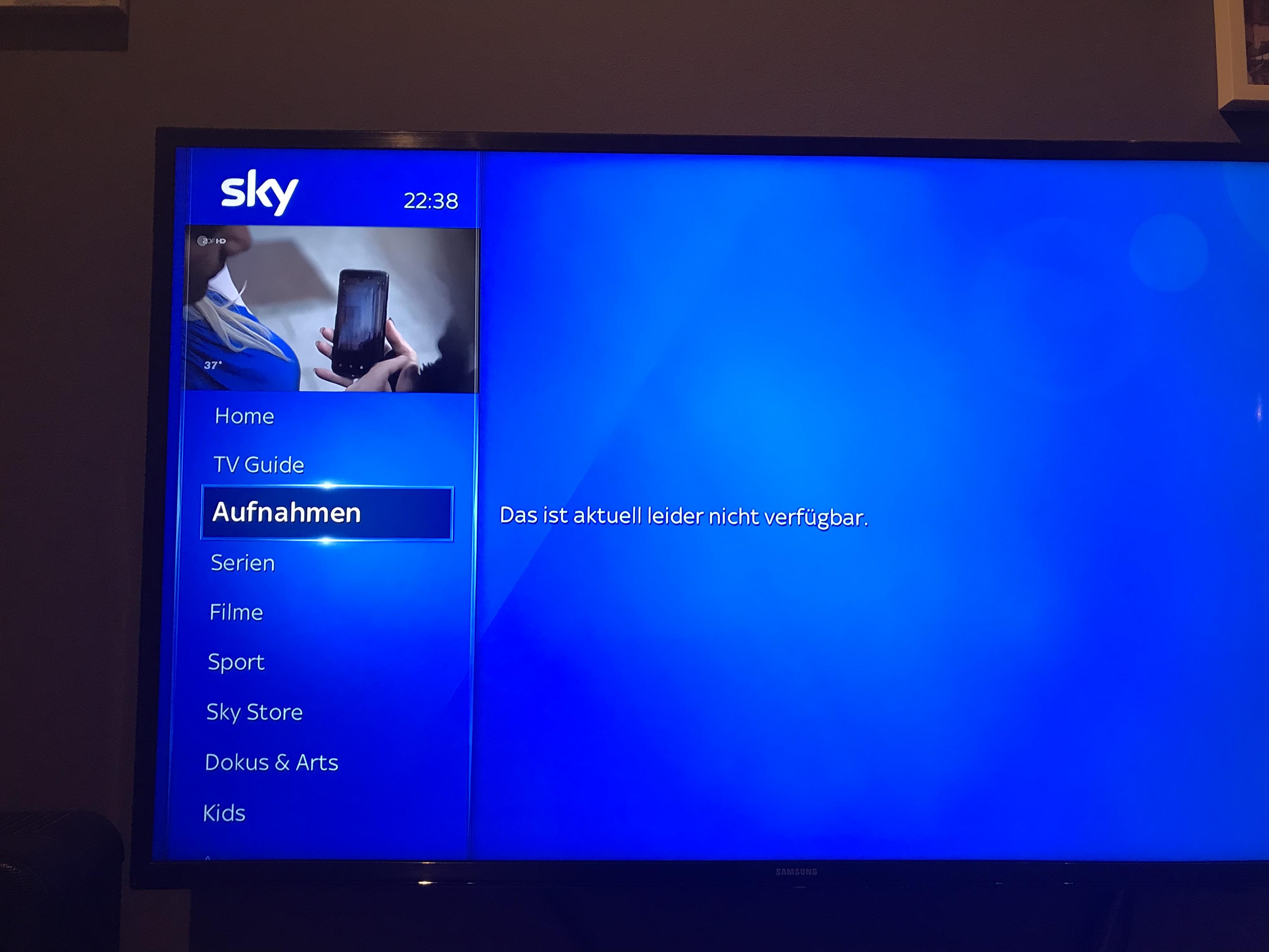 Sky Aufnahme Funktioniert Nicht
