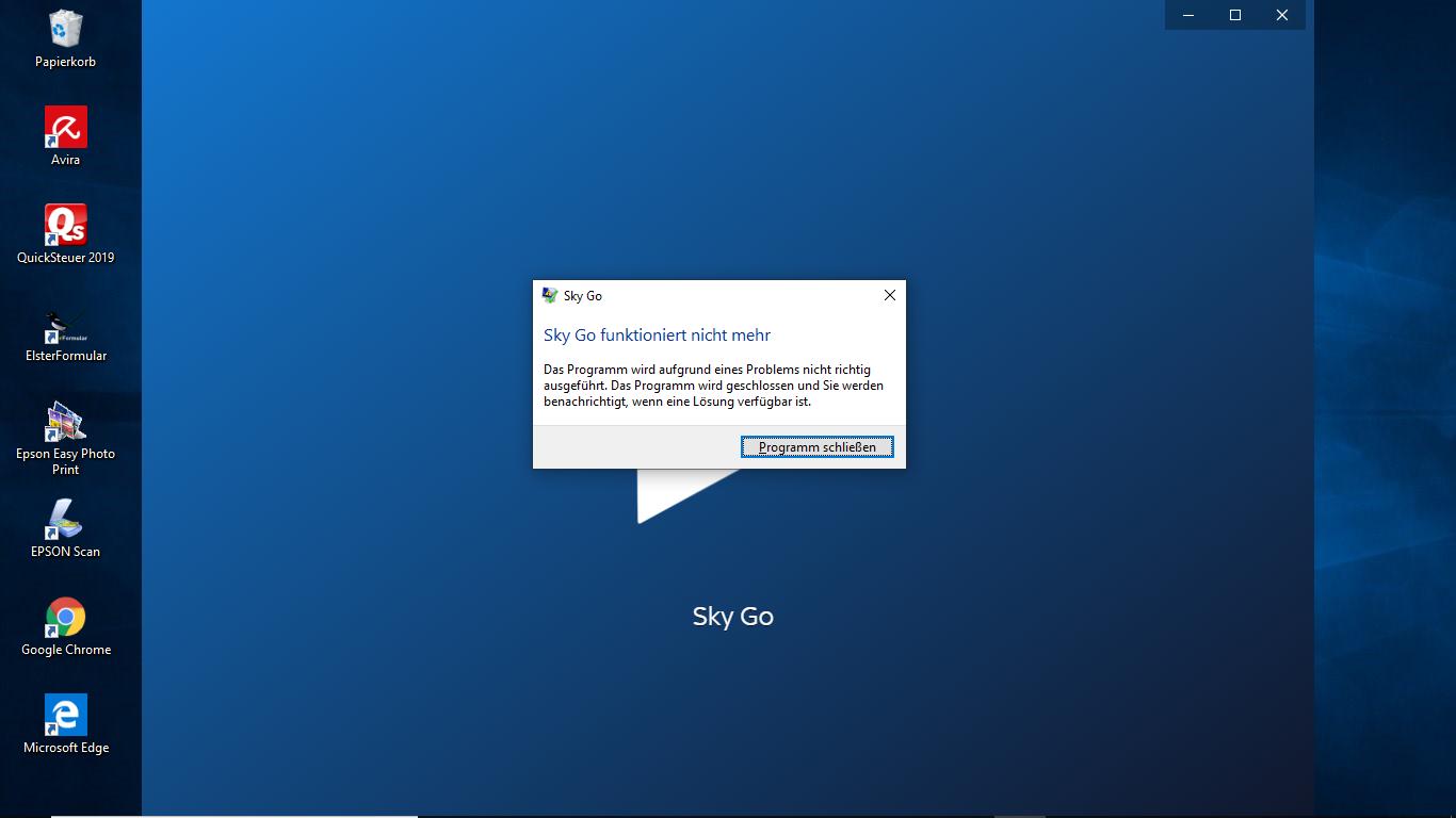 Sky Go Funktioniert Nicht