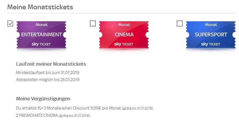 sky ticket freischaltung