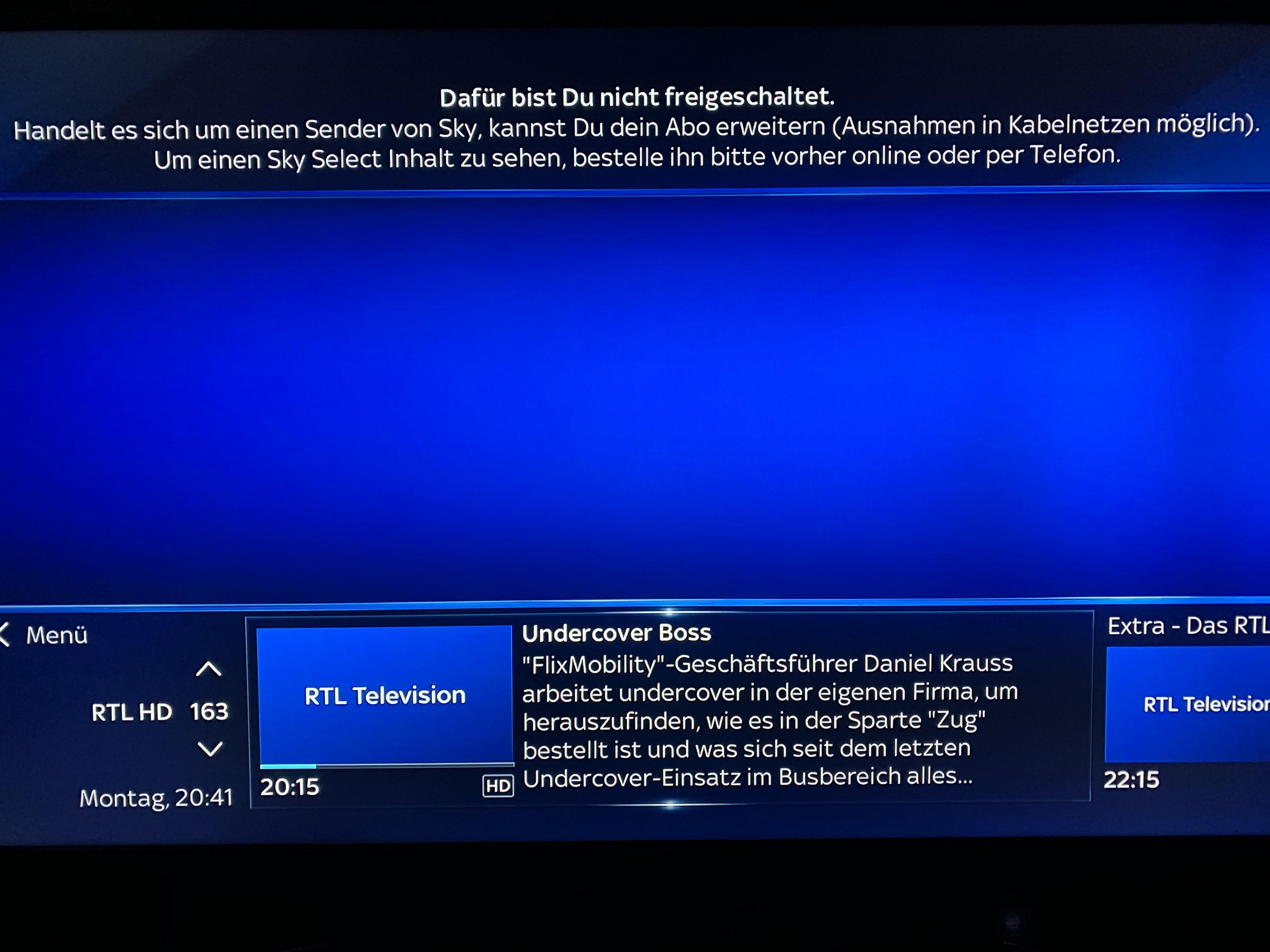 Sky Sender Nicht Freigeschaltet