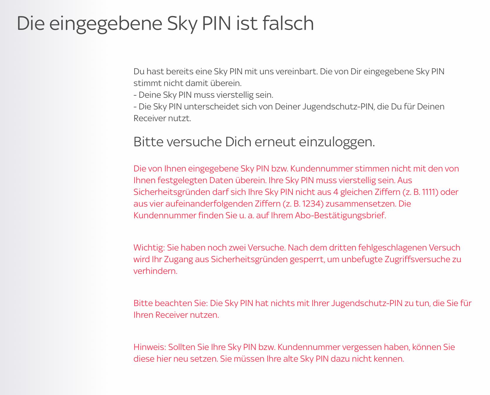 Sky 18 Pin Freischalten Online