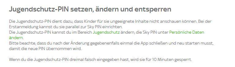 Sky Go Jugendschutz Pin VergeГџen