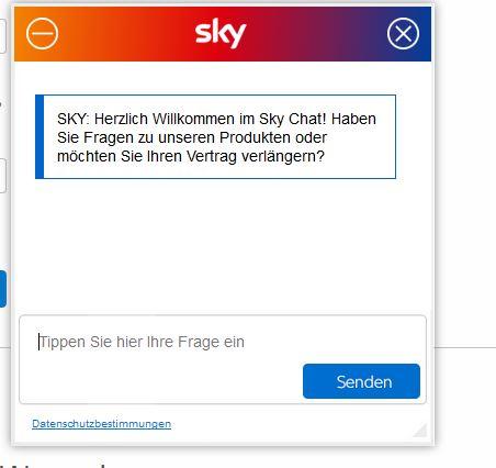 sky receiver zurückschicken adresse