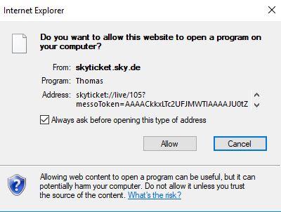 Sky Ticket Player Funktioniert Nicht