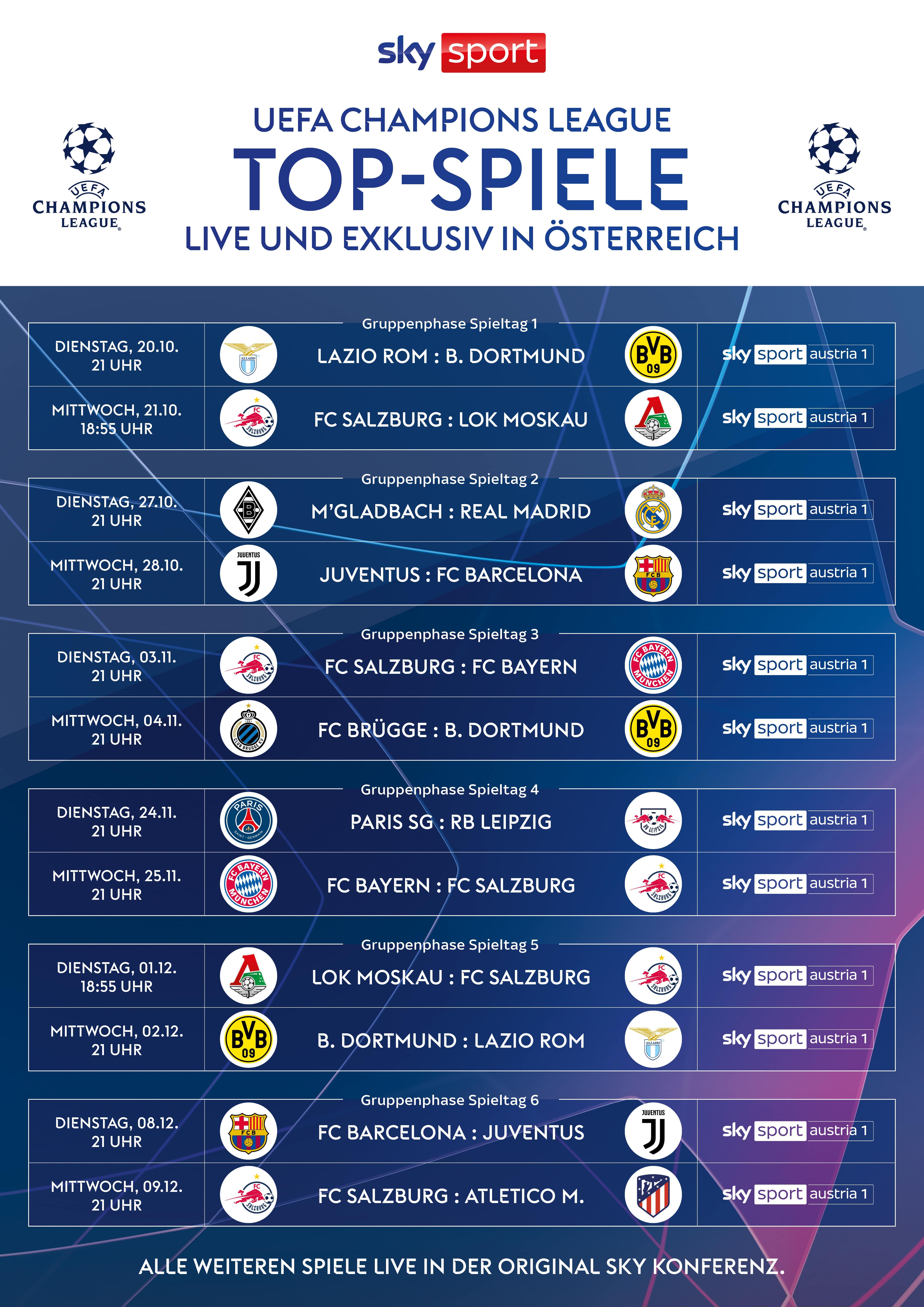 Sky Champions League Konferenz