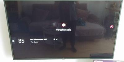 Bild bei TV-Gerät nach Sendersuchlauf DVB-C  (direkteinspeisung, nicht über die DVB-C Box