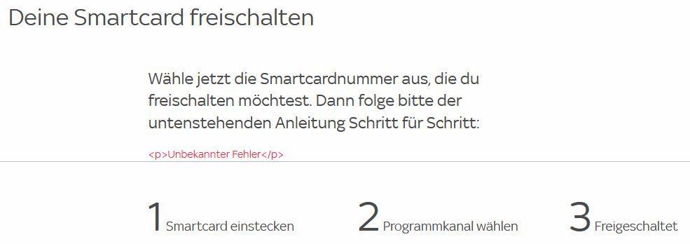 Unitymedia Smartcard Freischalten Funktioniert Nicht