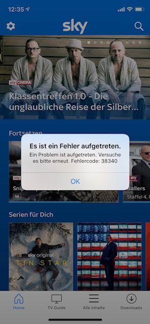 Sky Go App Fehler 7005