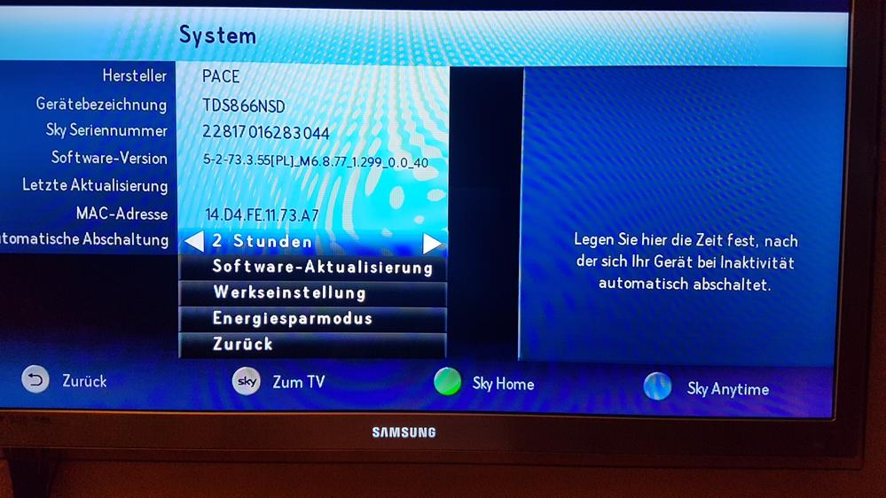 Sky Epg Aktualisierung Uhrzeit Einstellen