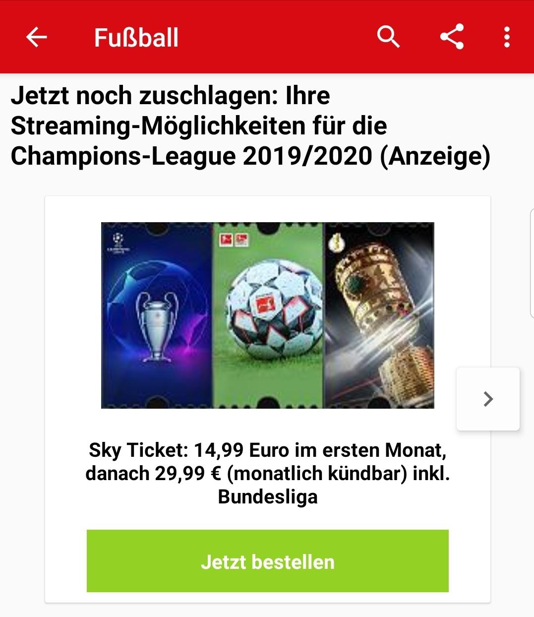 Sky Ticket Web