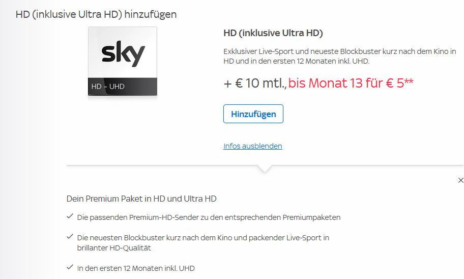 Sky Empfangen über Internet